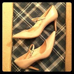Gray Calvin Klein 4 inch heels.
